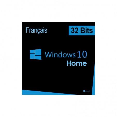 Microsoft Windows 10 Home 32 bits (français) DSP OEI - Licence OEM (DVD)