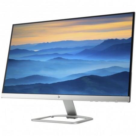 """HP 27"""" LED - 27es 1920 x 1080 pixels - 7 ms - Format 16/9 - Dalle IPS - HDMI - Noir/Argent"""