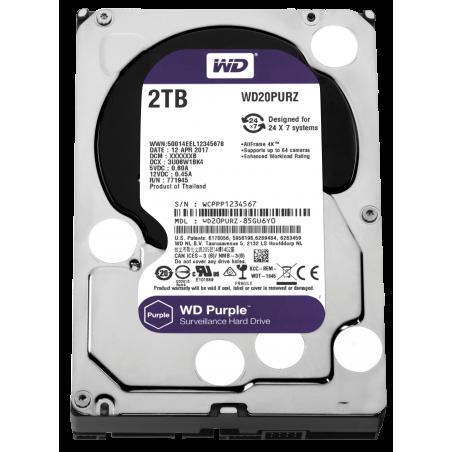 Disque dur Western Digital Purple WD20PURZ 2 tb