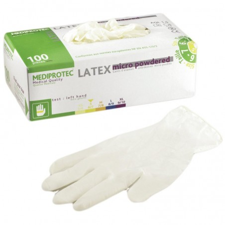 Gants en Latex  (pack de 100)